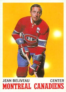 1970 O-Pee-Chee Jean Beliveau #55 Hockey Card