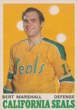 1970 O-Pee-Chee Bert Marshall #188 Hockey Card