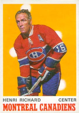 1970 O-Pee-Chee Henri Richard #176 Hockey Card