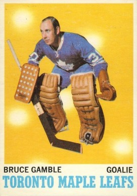 1970 O-Pee-Chee Bruce Gamble #105 Hockey Card