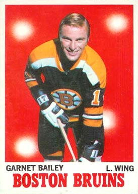 1970 Topps Garnet Bailey #10 Hockey Card