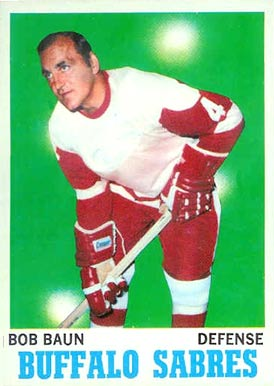 1970 Topps Bob Baun #24 Hockey Card