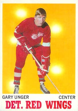 1970 Topps Garry Unger #26 Hockey Card