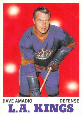 1970 Topps Dave Amadio #33 Hockey Card