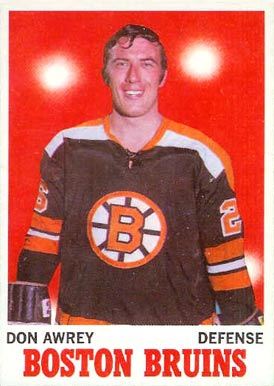 1970 Topps Don Awrey #4 Hockey Card