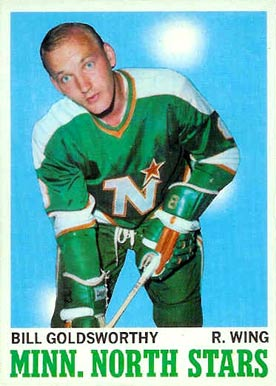 1970 Topps Bill Goldsworthy #46 Hockey Card
