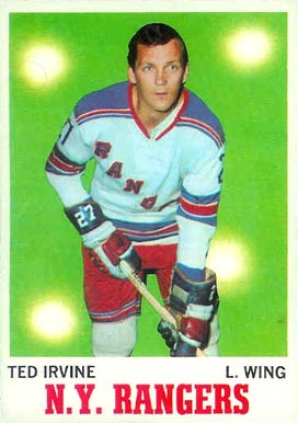 1970 Topps Ted Irvine #65 Hockey Card