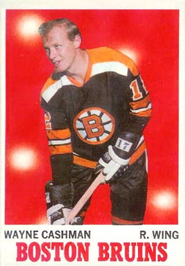 1970 Topps Wayne Cashman #7 Hockey Card