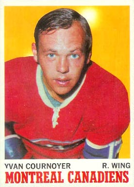1970 Topps Yvan Cournoyer #50 Hockey Card