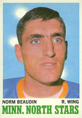 1970 Topps Norm Beaudin #48 Hockey Card