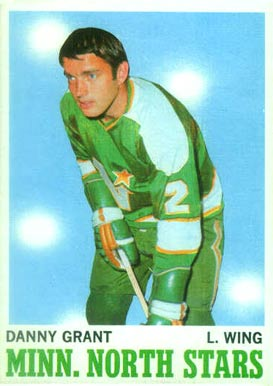 1970 Topps Danny Grant #47 Hockey Card