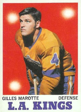 1970 Topps Gilles Marotte #34 Hockey Card