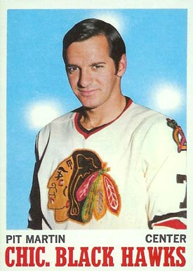 1970 Topps Pit Martin #18 Hockey Card