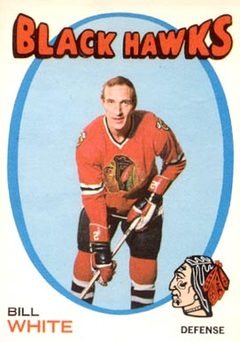 1971 O-Pee-Chee Bill White #11 Hockey Card