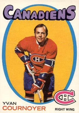 1971 O-Pee-Chee Yvan Cournoyer #15 Hockey Card