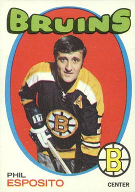 1971 O-Pee-Chee Phil Esposito #20 Hockey Card