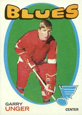 1971 O-Pee-Chee Garry Unger #26 Hockey Card