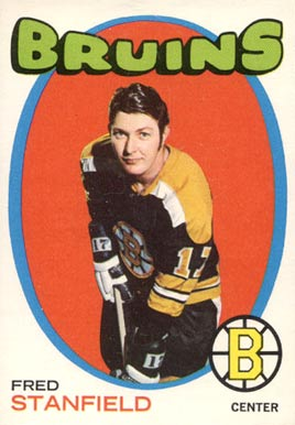 1971 O-Pee-Chee Fred Stanfield #7 Hockey Card