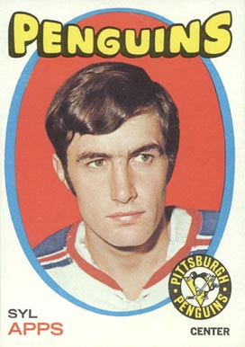 1971 O-Pee-Chee Syl Apps #77 Hockey Card