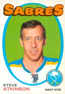 1971 O-Pee-Chee Steve Atkinson #162 Hockey Card