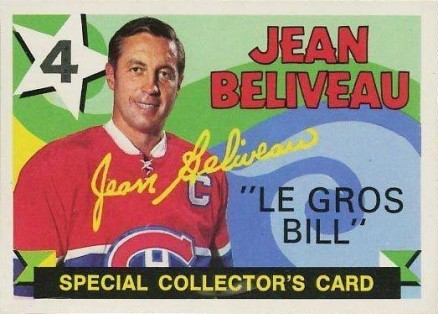 1971 O-Pee-Chee Jean Beliveau #263 Hockey Card