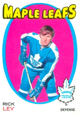 1971 O-Pee-Chee Rick Ley #194 Hockey Card