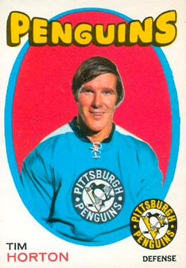 1971 O-Pee-Chee Tim Horton #186 Hockey Card
