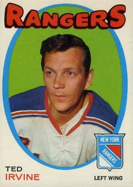 1971 O-Pee-Chee Ted Irvine #74 Hockey Card