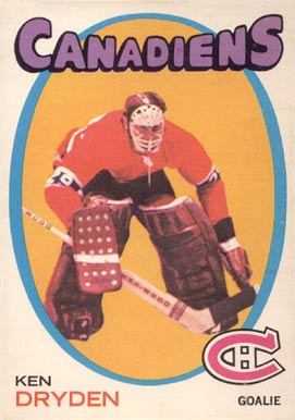1971 O-Pee-Chee Ken Dryden #45 Hockey Card