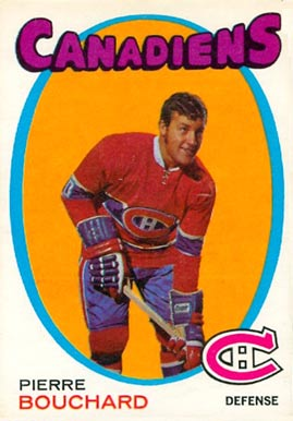 1971 O-Pee-Chee Pierre Bouchard #2 Hockey Card