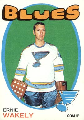 1971 O-Pee-Chee Ernie Wakely #81 Hockey Card