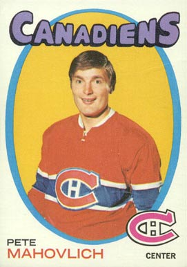 1971 O-Pee-Chee Peter Mahovlich #84 Hockey Card
