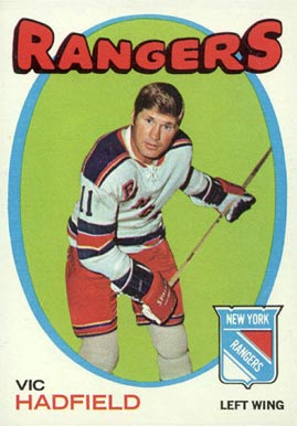 1971 O-Pee-Chee Vic Hadfield #9 Hockey Card