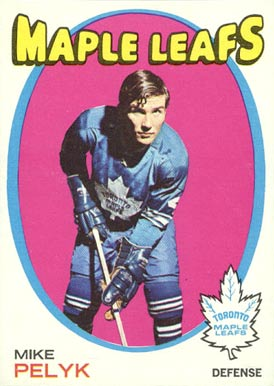 1971 O-Pee-Chee Mike Pelyk #92 Hockey Card