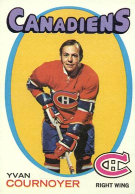 1971 Topps Yvan Cournoyer #15 Hockey Card