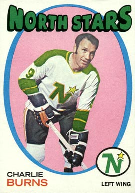 1971 Topps Charlie Burns #21 Hockey Card