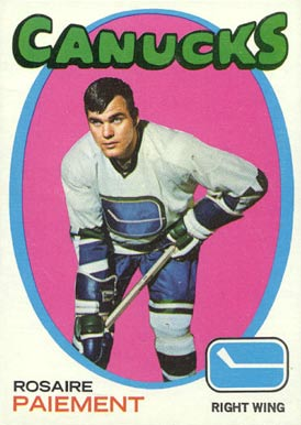 1971 Topps Rosaire Paiement #24 Hockey Card