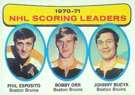 1971 Topps NHL Scoring Leaders #3 Hockey Card