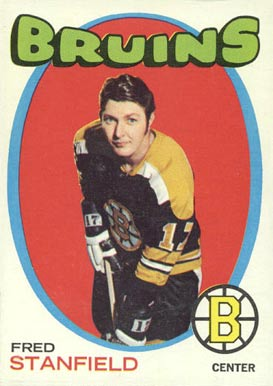 1971 Topps Fred Stanfield #7 Hockey Card
