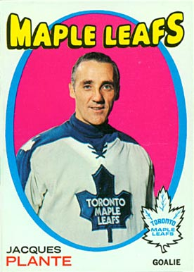 1971 Topps Jacques Plante #10 Hockey Card
