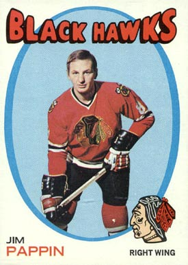1971 Topps Jim Pappin #98 Hockey Card