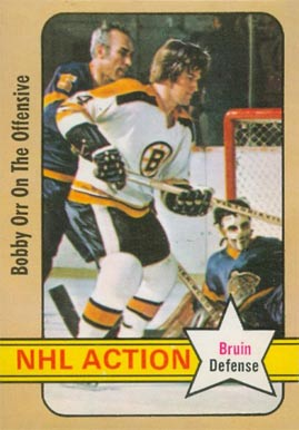 1972 O-Pee-Chee Bobby Orr #58 Hockey Card