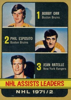 1972 O-Pee-Chee Assists Leaders #283 Hockey Card