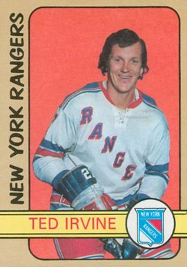 1972 O-Pee-Chee Ted Irvine #212 Hockey Card