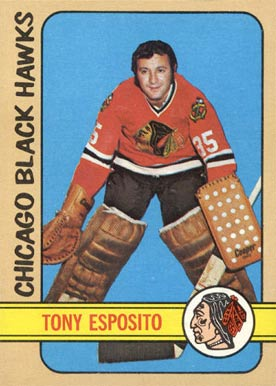 1972 Topps Tony Esposito #20 Hockey Card