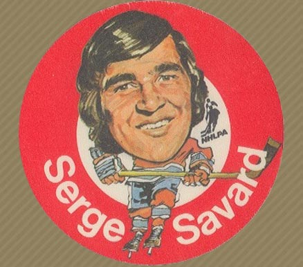 1973 Mac's Milk Serge Savard #25 Hockey Card