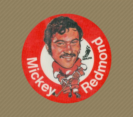 1973 Mac's Milk Mickey Redmond #24 Hockey Card