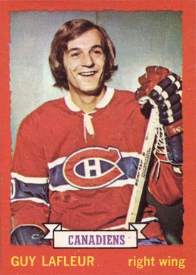 1973 O-Pee-Chee Guy Lafleur #72 Hockey Card