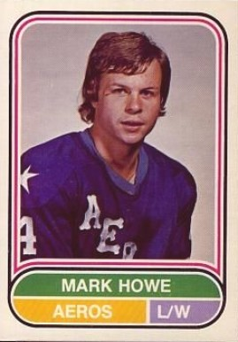 1975 O-Pee-Chee WHA Mark Howe #7 Hockey Card
