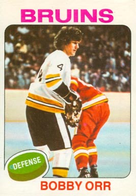 1975 O-Pee-Chee Bobby Orr #100 Hockey Card
